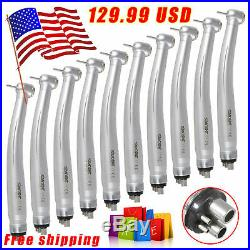 10USA SANDENT NSK Style Dental High/Fast Speed Handpiece Push Button 4 Hole OEM