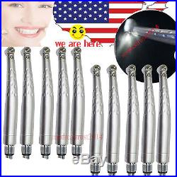 10X USA LED Dental Push fast high Speed Handpiece 3 SRAY 4 Hole FIT KAVO bearing