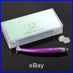 10 NSK Style Dental Luxury High Speed Handpiece Push Button Turbine Colorful M4