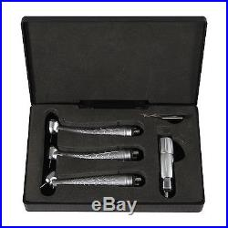 3 Dental LED Fiber Optic High Speed Handpieces 45 Degree+Large+Standard Head