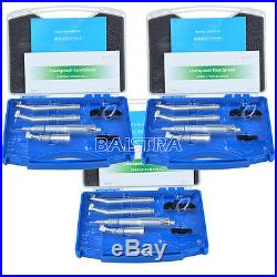 3 Sets NSK Style Pana Air High Low Speed Dental Handpiece Kit Push Button 2 Hole