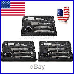 3 kits Dental high Wrench Type low Speed Handpiece 4 Hole fit NSK PANA MAX P4-US