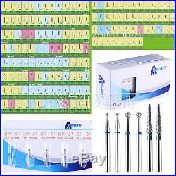 500pcs Dental azdent Diamond Bur Tooth Drill 150 Types for High Speed Handpiece