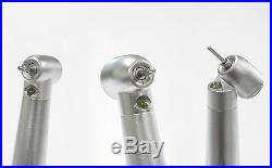 5pcs Dental High Speed LED Handpiece kit 4Hole Suit Quick Coupling with 2 push