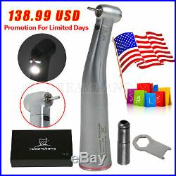 Dental 15 Electric Fiber Optic Contra Angle Increasing Handpiece Red Ring F/NSK