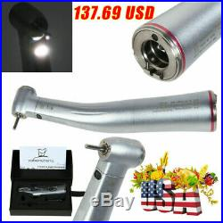 Dental 15 Electric Fiber Optic LED Contra Angle Handpiece Fit NSK Red Ring F4
