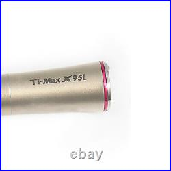 Dental 15 Increasing LED Fiber Optic Contra Angle Handpiece X95L Red Ring
