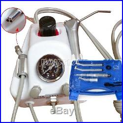 Dental Air Turbine Unit & NSK Style High/Low Speed Angle Handpiece Kit 4 Holes