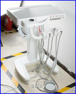 Dental Delivery Mobile Cart Unit System Machine 4 Hole+ High Speed LED Handpiece