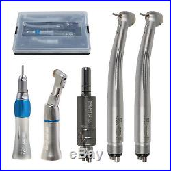 Dental E-generator LED High Speed Turbine/Slow Low Speed Handpiece Kit 2/4Hole