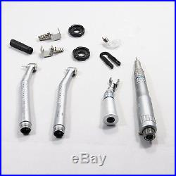 Dental High Speed Wrench Type & Low Speed Latch Handpiece Kit 2 Holes US STOCK