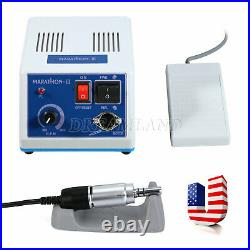 Dental Lab Electric Micromotor Marathon With Contra Angle Straight Handpiece N3Set