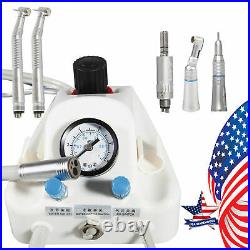 Dental Portable Air Turbine Unit Fit Compressor &High Low Speed Kit Handpiece 4H