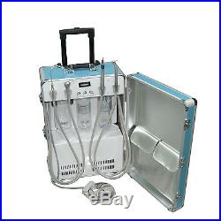 Dental Portable Delivery Unit&Air Compressor High Low Speed Handpiece 4 Holes CE