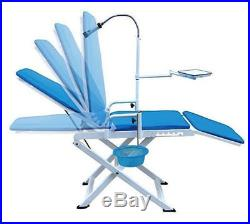 Dental Portable Folding Chair Mobile Unit +Wrench High Low Speed Handpieces 4H
