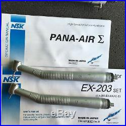 SALE! 2NSK High Speed Wrench Type Handpiece+Low Speed Latch Handpiece Kit 4Hole