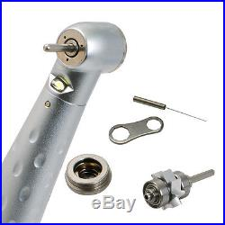 US 1 Normal 1 LED High Speed Handpiece 1 low Speed 2Holes Dental Handpiece Kit