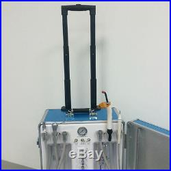 Updated Portable Dental Unit 4H + Portable Chair + High Low Speed Handpiece Kits