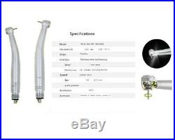 W&H Style 9Types Dental LED High/Low Speed Handpiece LED Shadowless Air Turbine